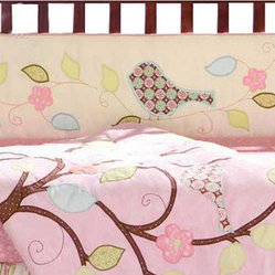 Love Bird Crib Bumper by Bananafish