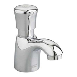 American Standard - American Standard 1340.119.002 Pillar Tap Metering Faucet-Spout, 0.5 gpm, Chrome - American Standard 1340.119.002 Pillar Tap Metering Faucet with Extended Spout, 0.5 gpm, Polished Chrome. This metering faucet features a cast spout, a 0.5 GPM pressure compensating vandal-resistant non-aerated spray, an easy-push handle, and an automatic shut-off to reduce water and energy waste. This model comes with an extended spout.