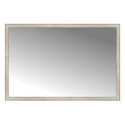 """Posters 2 Prints, LLC - 63"""" x 42"""" Libretto Antique Silver Custom Framed Mirror - 63"""" x 42"""" Custom Framed Mirror made by Posters 2 Prints. Standard glass with unrivaled selection of crafted mirror frames.  Protected with category II safety backing to keep glass fragments together should the mirror be accidentally broken.  Safe arrival guaranteed.  Made in the United States of America"""