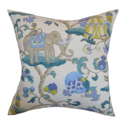 The Pillow Collection - Majella Floral Pillow Teal - Sophisticated and enchanting, this spring-inspired throw pillow is perfect for your dressing up your space. This accent pillow brings a refreshing twist with its lovely mix of colors like teal blue, brown and white. The floral pattern adds a timeless look to your living room, bedroom or guestroom. Display this square pillow alongside solids and other patterns. 100% American-made and uses 100% high-quality cotton material. Hidden zipper closure for easy cover removal.  Knife edge finish on all four sides.  Reversible pillow with the same fabric on the back side.  Spot cleaning suggested.