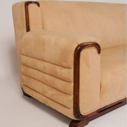 SOLD OUT!  Prague Art Deco-Style Sofa - $4,800 Est. Retail - $1,200 on Chairish.