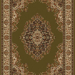 """Radici USA - European Como Hallway Runner 2'2""""x7'7"""" Runner sage Area Rug - The Como area rug Collection offers an affordable assortment of European stylings. Como features a blend of natural sage color. Machine Made of Olefin the Como Collection is an intriguing compliment to any decor."""