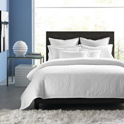 Hotel Collection Bedding, Ogee Matelasse - Elegant simplicity! The Hotel Collection Ogee Matelasse Collection captures contemporary style with an all-over abstract pattern over a muted landscape. Crisp, clean and crafted with cotton, the ensemble gives your room a 5-star update. Available in 2 colors: White or Sky Blue. Available in 2 sizes: Queen, King. Only at Macy's.
