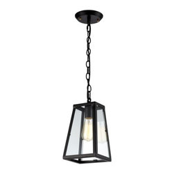 Ohr Lighting® - Ohr Lighting® Edison Vintage Inspired Glass Pendant Light With Black Chain, Clea - Features