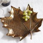 Cast Leaf Serving Platter -