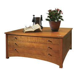 Stickley Harvey Ellis Storage Cocktail Table 89/91-744 -