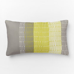 Outdoor Links Stripe Pillow - These bright yellows tie into the neutrals for the perfect combo on summertime nights spent outside.