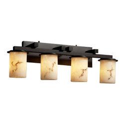 Justice Design Group - Justice Design Group FAL-8774-10 Dakota 4 Light Straight Bar Bathroom Fixture fr - Features: