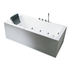 """Ariel - Ariel Platinum AM154 59"""" L Whirlpool Bathtub 59x30x25 - Take a dip in this elegant whirlpool bathtub. Equipped with hydro-massage jets designed to target your pressure points for a relaxing experience."""