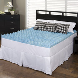 Slumber Solutions - Slumber Solutions Gel Big Bump 2-inch Memory Foam Mattress Topper - Keep cool and comfortable while youre in dreamland with this gel-filled memory foam mattress topper from Slumber Solutions. This topper comes in two sizes,full and twin