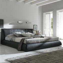 Coco Platform Bed in Brown -