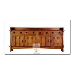 Mission Buffets and Sideboards - This beautiful Sideboard is an identical Historic Reproduction of Gustav Stickley's Vancroft four Door Sideboard Circa 1902.  It is 100% Handcrafted in the United States by our Master-Craftsmen and Guaranteed for Life!
