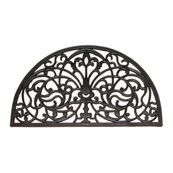 Entryways - Half Round Recycled Rubber Doormat - Add an elegant welcoming accent to your doorway