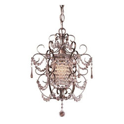 Minka-Lavery - Mini Crystal Chandelier No. 3121 by Minka-Lavery - The Minka Lavery Mini Crystal Chandelier No. 3121 infuses a dainty, old world charm elegance to your space. The Mini Crystal Chandelier No. 3121 features Crystal accents and Westport Silver finish. Minka-Lavery, recognized as a leader in modern elegance, offers decorative lighting with high quality craftsmanship in a variety of materials, including solid brass, wrought iron and cast aluminum. Located in Corona, CA, the Minka Group is branched into three providers that offer creative designs as well as timeless classics: Minka-Lavery lighting, Minka Aire fans and George Kovacs lighting.