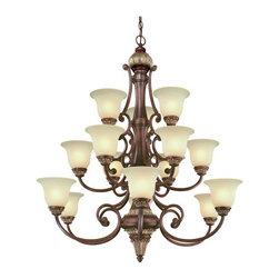 Dolan Designs - Dolan Designs 2643-211 Bonita Yuma Bronze 15 Light Chandelier - Dolan Designs 2643-211 Bonita Yuma Bronze 15 Light Chandelier