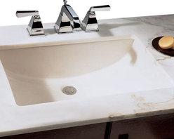 """TCS Home Supplies - Rectangular Biscuit Porcelain Ceramic Vanity Undermount Bathroom Vessel Sink - Undermount Bathroom Vessel Sink. Porcelain Ceramic. Exterior Dimensions 20-3/4"""" x 14-5/8"""" x 6-3/4"""". Interior Dimensions 18-1/2"""" x 12-1/2"""" x 6-3/4""""."""