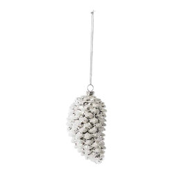 Balsam Hill Silver Pinecone Christmas Ornaments - Set of 3 - GLAZED WITH WINTER'S ICY ARTISTRY