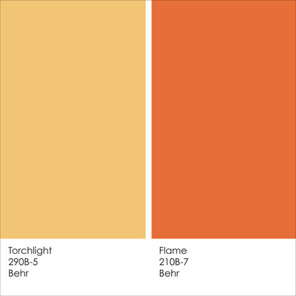 By jennifer ott design Orange paint samples