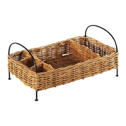 Eco Displayware - Buffet Rattan Basket Organizer in Natural - Great for closet, bath, pantry, office or toy and game storage. Earth friendly. 21 in. L x 13 in. W x 9.5 in. H (9.43 lbs.)These natural colored baskets add warmth and charm and keep you organized.