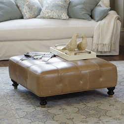 Ballard Designs - Kent Leather Ottoman - I'm not usually one for leather furniture, but this is such a beautiful color. It would really lend some depth to a space.
