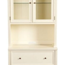 Tuscan Hutch with Lateral File Console - I really like the versatility of this piece. The bottom is a file cabinet, making it great for an office. But the overall look seems perfect for a dining room or for extra storage in a kitchen. An opening in the back of the main shelf would be helpful for plugging in a toaster or computer, depending on where it's situated.