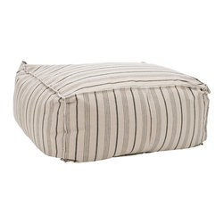 Safavieh - Safavieh Large Pouf Ottoman X-B2354RCM - Care Instruction: To prevent overall soiling, frequent vacuuming or light brushing is recommended. Cushions and pillows should be turned on a weekly basis. Down-filled cushions should be brushed rather than vacuumed. Spot clean, using a mild water-free solvent or dry cleaning product. Only a professional cleaner should undertake a complete overall cleaning. The use of steam or water-based cleaners may cause excessive shrinking or staining.