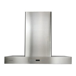Ariel - Cavaliere-Euro SV218Z-42 Stainless Steel Wall Mount Range Hood - Cavaliere Stainless Steel 218W Wall Mounted Range Hood with 6 Speeds, Timer Function, LCD Keypad, Aluminum Grease Filters, and Halogen Lights