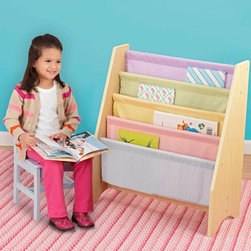 KidKraft - KidKraft 4 Shelf Pastel Colored Sling Bookshelf Multicolor - 14225 - Shop for Childrens Bookcases from Hayneedle.com! Keep a comprehensive kid's library with the KidKraft 4 Shelf Pastel Colored Sling Bookshelf. Because kids can judge a book by its cover this case allows books to be stored front side out. Sized just right for little ones to reach any book on the shelf. Some assembly required; ships with all necessary fasteners and easy-to-follow instructions. Includes 90-day manufacturer's warranty.