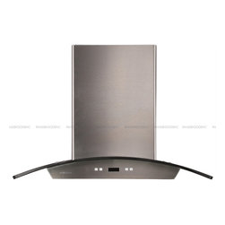 """Cavaliere - Cavaliere 198D 30 Wall Mounted Range Hood - Mounting version - Wall Mounted   600 CFM centrifugal blower   Three-speed electronic, touch sensitive control panel with LCD display (both side accessible, EZreach design)   Delayed power auto shut off (programmable 1-15 minutes)   30 hours cleaning reminder   Two dimmable 35W halogen lights (GU-10 type light bulbs)   Aluminum 6 layers micro-cell washable grease filters (dishwasher-friendly)   Heavy duty 22 gauge stainless steel (brushed finish)   Telescopic decorative chimney of variable dimension   6"""" round duct vent exhaust and back draft damper   Tempered glass canopy   Venting Mode: Duct (optional re-circulating kit available to convert this to a ductless wall range hood)   One-year limited factory warranty on this island mounted range hood"""