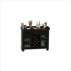 Howard Miller - Howard Miller Cabernet Hills Wine and Spirit Home Bar in Distressed Black ...