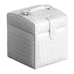 Gedy - Jewelry Box with 2 Drawers and Compartment with Mirror - If you are considering a jewelry box, why not consider this luxury jewelry box from the Gedy Marrakech collection? Perfect for more modern settings, this luxurious jewelry box is free stand and coated in pearl white, old silver, or gold. Made with extremely high quality thermoplastic resins/faux leather/glass in Italy by Gedy. Gedy free standing jewelry box. From the Marrakech collection. Luxurious & designer-quality, made in thermoplastic resins, faux leather, glass, and coated in pearl white, old silver, or gold. Made in and imported from Italy.