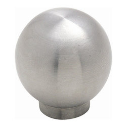 Amerock - Stainless Steel Stainless Steel Knob - Stainless Steel (Set of 10) - Amerock Stainless Steel Knob. Lifetime Finish. 1-1/4 in. W x 1-3/16 in. H (0.257 lbs)