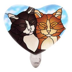 Joan Baker - Joan Baker Tiffany Cats Nightlight - Beauty in the night! Our Tiffany Cats nightlight is still chasing away the dark for those who love art.