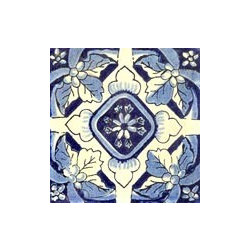 Handpainted Ceramic Grand Tile Collection - Item TG024