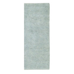 Surya - Aros Spa Blue Runner Size Shag Rug - Add flash of colors and visual appeal to your entry or hallway with this refreshing Aros Spa Blue Runner Size Shag Rug, which is constructed entirely of 100% New Zealand felted wool. The inherent comfort and durability of this sumptuous is sure to complement any contemporary decor. The rug boasts trend-setting color and a great design for chic interiors in the home. With its high quality and gorgeous soft pile, the rug is designed to impress all your guests.