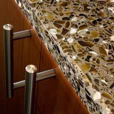 Traditional Vanity Tops And Side Splashes by Glass Recycled Surfaces