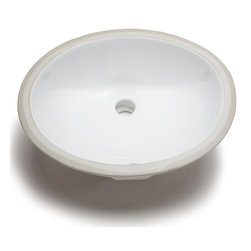 Hahn - Hahn Ceramic Small Oval Bowl Undermount White Bathroom Sink - With great durability and clean lines,this Hahn sink features a gently curved subtle oval shape that is nearly circular. Adding an understated elegance to any style of bathroom,this bowl comes in a lovely white ceramic/porcelain.