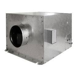 Vinotemp - 18 in. Wine Cellar Cooling System - Split system wine cooling unit. Made from metal. Gray color. Coverage size: good for 1000 cu. ft. or approximately 4500 bottles. Includes outdoor enclosure. No assembly required. For commercial use. Custom made: 2 to 3 weeks lead time. Fan coil specs: 115V/60Hz, 1.8A, 39 lbs.. Fan coil: 25.13 in. W x 22.88 in. D x 16.38 in. H. Condensing unit specs: 115V/60Hz, 6.9A, UL listed, 60 lbs.. Condensing unit: 19.88 in. W x 12.13 in. D x 14.38 in. H. WarrantyWith this split system, the condensing unit can be placed up to 50 feet away from the fan coil to allow for extremely quiet operation.