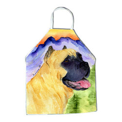 Caroline's Treasures - Cane Corso Apron SS8233APRON - Apron, Bib Style, 27 in H x 31 in W; 100 percent  Ultra Spun Poly, White, braided nylon tie straps, sewn cloth neckband. These bib style aprons are not just for cooking - they are also great for cleaning, gardening, art projects, and other activities, too!