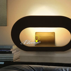 Modern LED Metal Wall Sconce in Baking Finish -