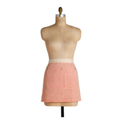 Birdkage - Salmon Mini Half Apron - Short, chic and sweet — this half apron packs a whole lot of style. The universally flattering shade will make you look good enough to eat.