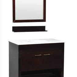 Belmont Decor - Belmont Decor Huntington S Vanity - With an adventurous spirit that puts form and function foremost, the Huntington single sink bathroom vanity combines classic and modern styles to create a timeless masterpiece. The counter top is made from high quality heat and scratch resistant . This vanity will give you adequate storage space and is designed to complement any decor. A perfect decorative vanity for any bathroom style.