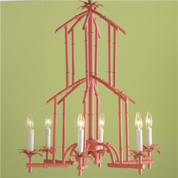 Bamboo Tower Chandelier - What little girl wouldn't die over this faux bamboo pagoda chandelier? It's a great way to perk up a boring hallway or a glamorize a bedroom.