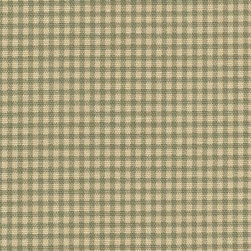 Orien Textile - Gingham Fabric, Document - Screen printed on cotton this fabric is perfect for decorating. Colors include grass and ivory. This fabric is great for throw pillows, duvet covers, draperies, valances or light upholstery. Try your hand with tote bags and handbags
