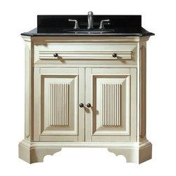 Avanity KINGSWOOD-V36-DW Kingswood Distressed White Bathroom Vanity 36 x 21 x 35 -