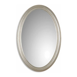 Franklin Oval Silver Mirror - *Oval mirror features an antique silver leaf finish.
