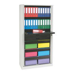 ... folder rails. The tambour doors recess into the cabinet walls instead