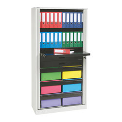 Office Solutions - Bisley 78 Inch Office Filing and Storage Tambour ...