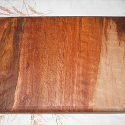 Hand crafted Solid Oak Cutting Board preserved with cedar oil and stone - This is a hand crafted Solid Oak Cutting Board preserved with cedar oil and ground stone to petrify the wood. Beauty that lasts.  These are cut from side pieced of Oak logs, they are not glued together or veneered.