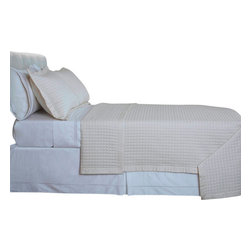 "Bed Linens - Ivory Checkered Coverlet Set Egyptian cotton 400 Thread count Reversible, Full/Q - Luxury Egyptian cotton Checkered quilted coverlets * 400 thread count Single Ply * 100% Egyptian cotton both sides (Reversible) * 1"" Quilted Checkered * 3"" Silky Sateen hemming all sides * Machine Washable Single-ply coverlets are woven with long staple cotton fibers for superior levels of quality, durability, and softness; these ultra fine yarns of cotton are silky, soft, and woven in single pick insertion for silky feel."